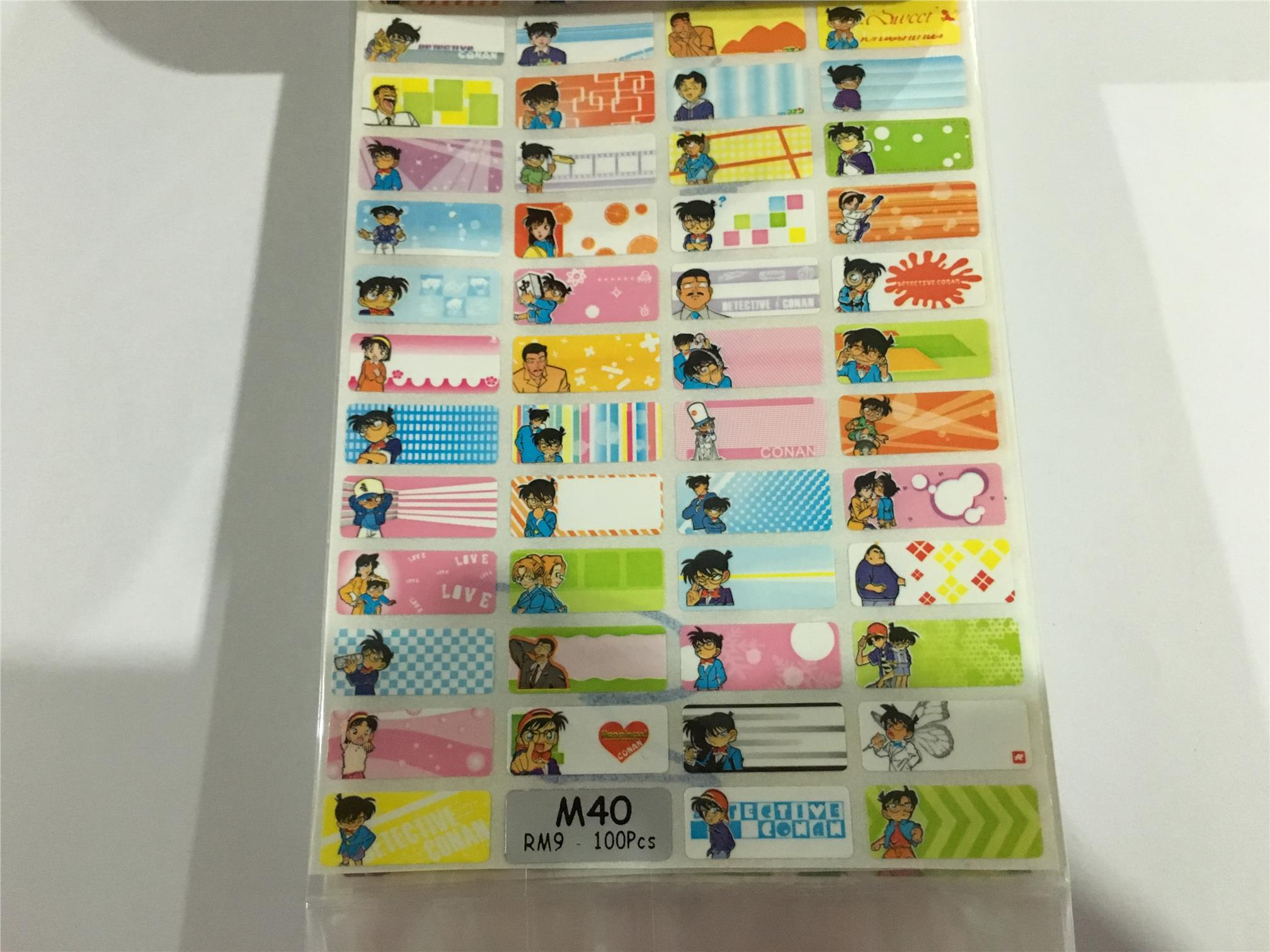 Sticker Name 姓名贴 Sticker Nama Conan 柯Õ..