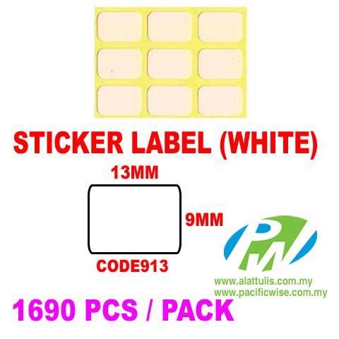 Sticker Label (9mm x 13mm)