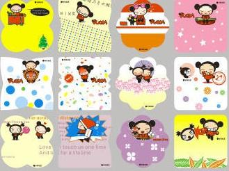 Name stickers, 60pcs - PUCCA