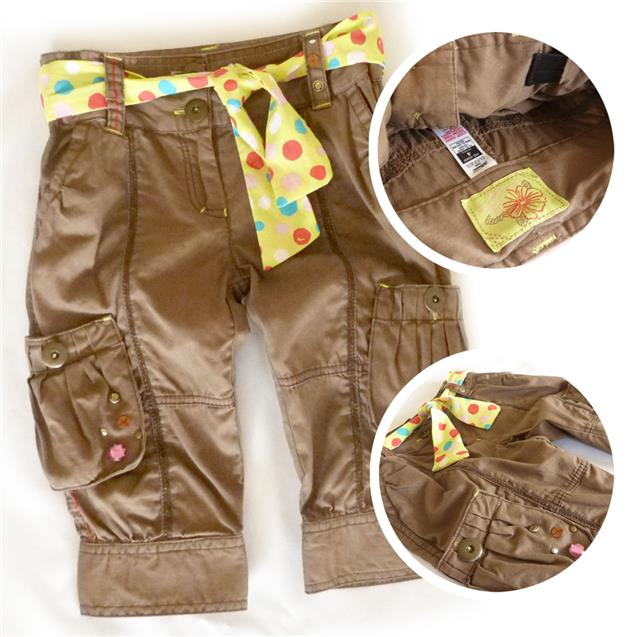 Stock Clearance - 'Dunnes' Girls Dot Belted Pant