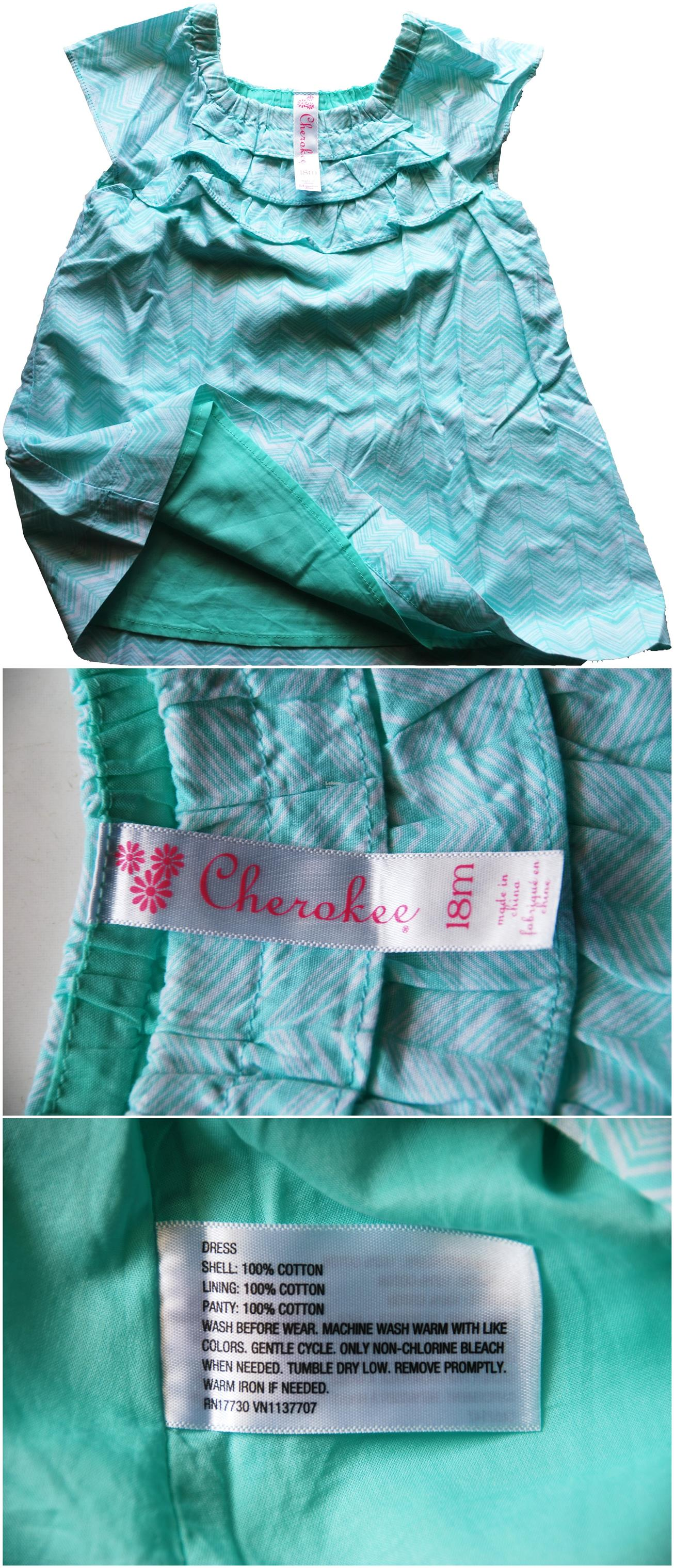 [Stock Clearance] Fine cotton CHEROKEE dress for baby