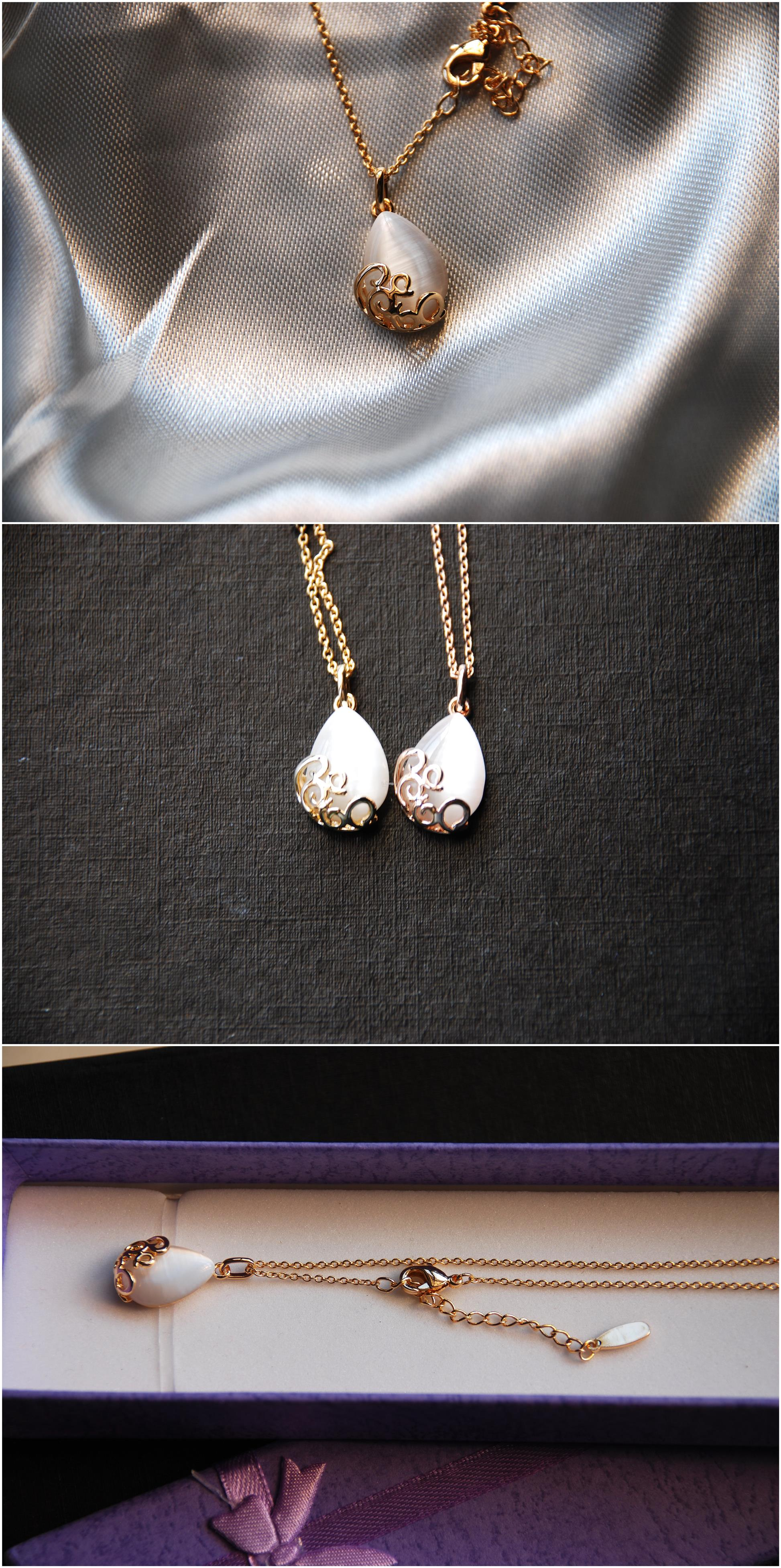 [Stock Clearance] Gold plated Waterdrop Pendant Necklace