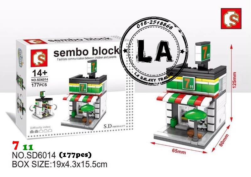 (STOCK CLEARANCE) Sembo SD6014 7-11 building blocks (Lego Compatible)