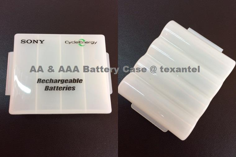 Storage Battery Hard Case for AA & AAA