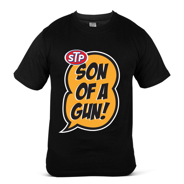 STP Motorcycle Motor Bike OIL Fuel Son Of A Gun Unisex Casual T-Shirt