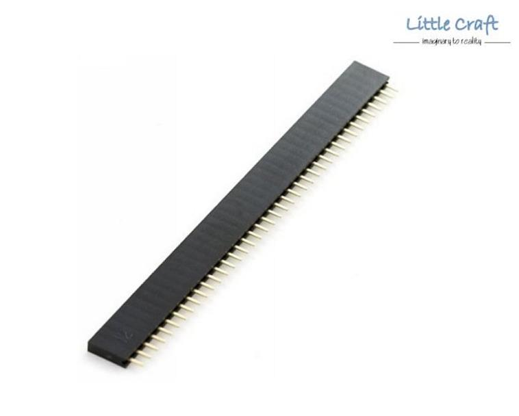 Straight Female Header Single Row 40 ways (Male) - 2.54mm Pitch