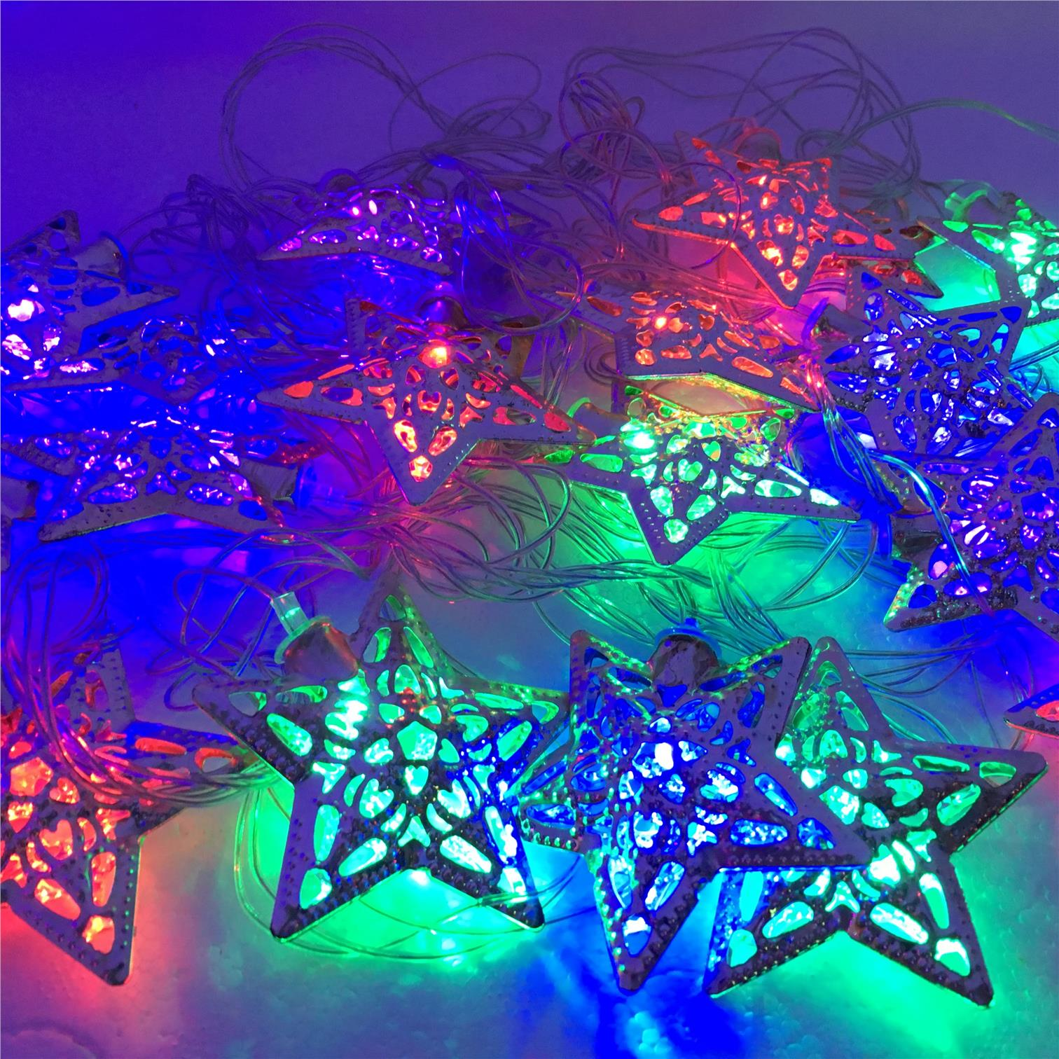 Straight Line Decor Star Shape Light 5Meter