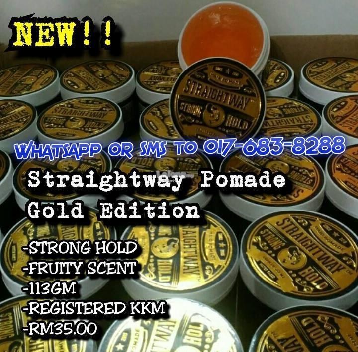 Straightway Gold Edition Hair Pomade Rambut