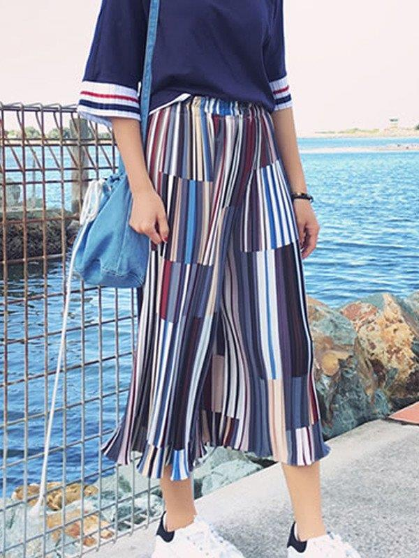 Stripe Loose Pants