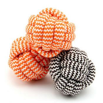 Striped Cotton Rope Pet Chew Toy Ball