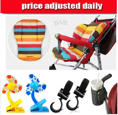 Stroller Accessories/Hook/Cup Bottle Holder/Baby Clip On Fan/Cushion