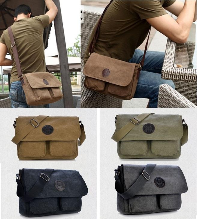 Stylish Canvas Bag/Messenger Bag/S (end 10/13/2019 12:02 AM)