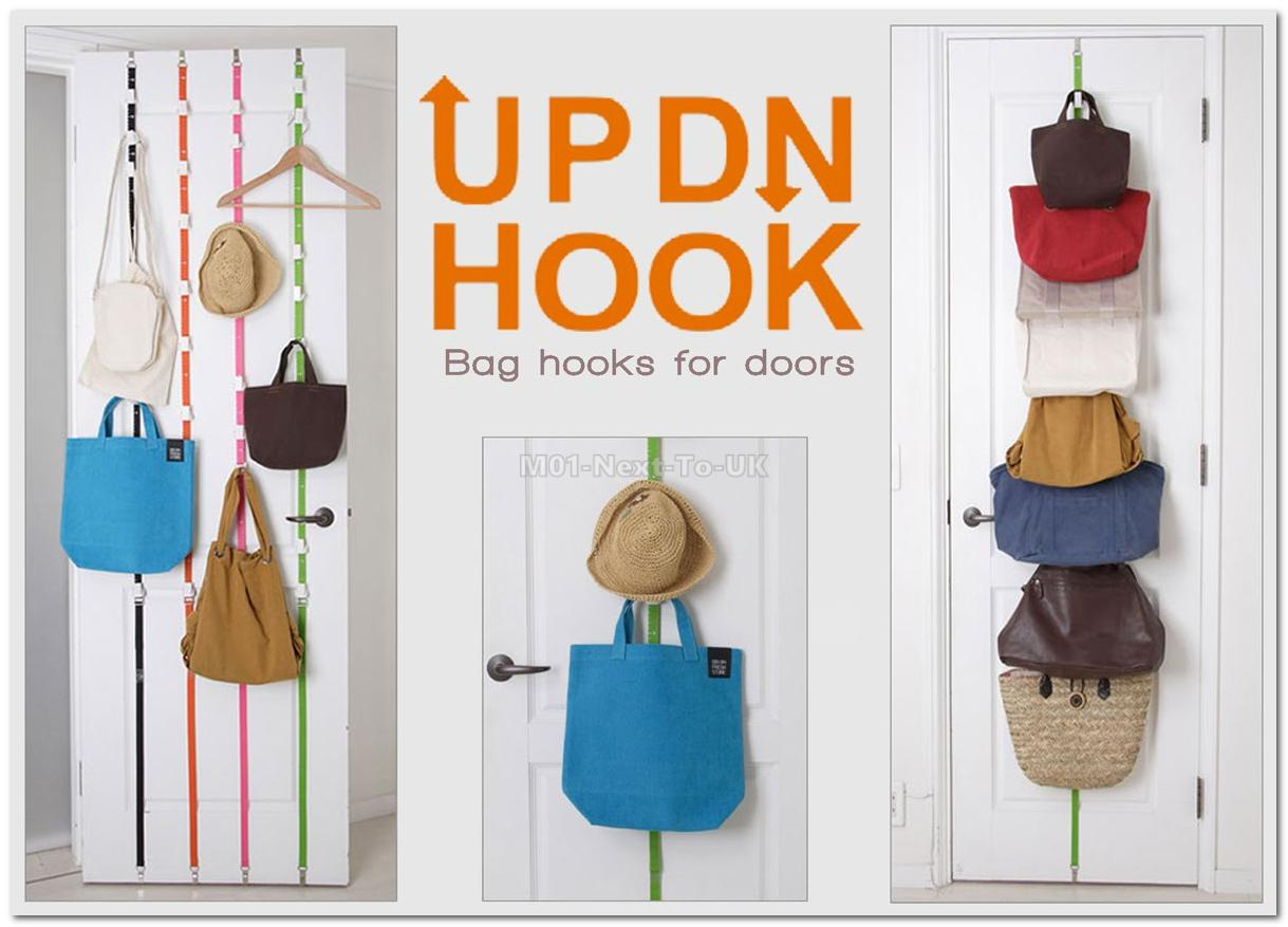 Stylish Hooks Over Door Straps Hanger Rack Storage Organizer Hat Bag