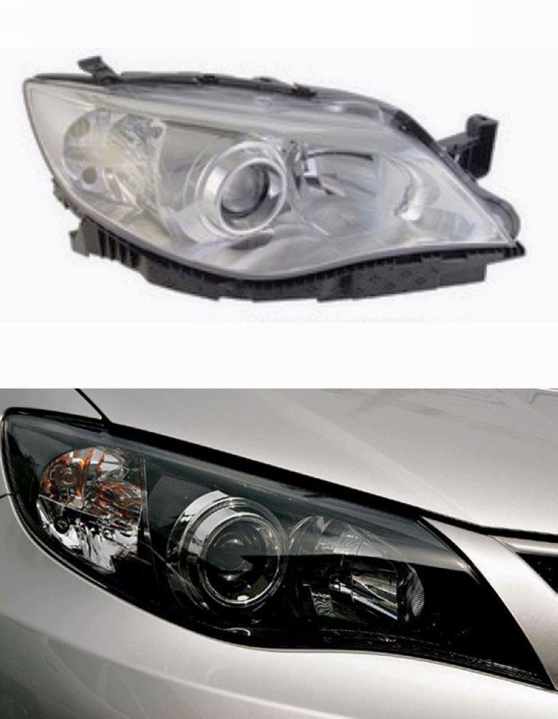 SUBARU IMPREZA 08 Projector Head Lamp Black Chrome 1-pair