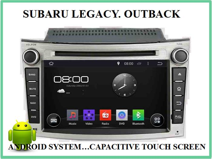 SUBARU LEGACY, OUTBACK ANDROID CAR DVD PLAYER