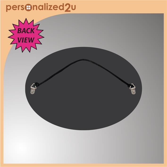 Sublimation Oval Hardboard with Hanging String