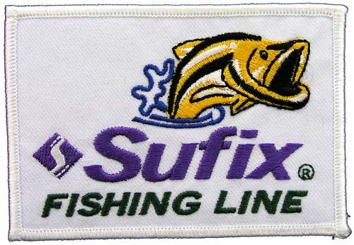 SUFIX FISHING LINE SPORTS EMBROIDERED PATCH #2