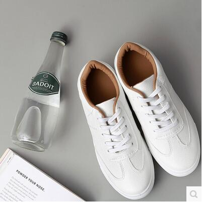 Summer breathable casual Korea version leather white shoe