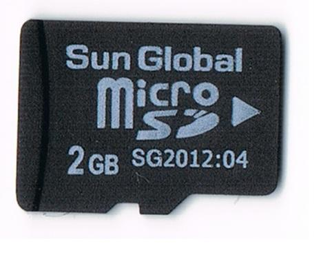 Sun Global 2GB microSD micro SD memory card 2G Class 4 TFlash