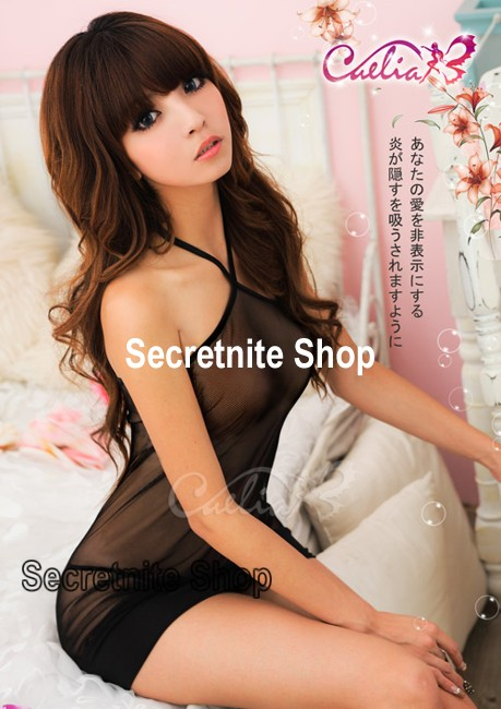 Sun@ Sexy Black Babydoll with G-string S-368