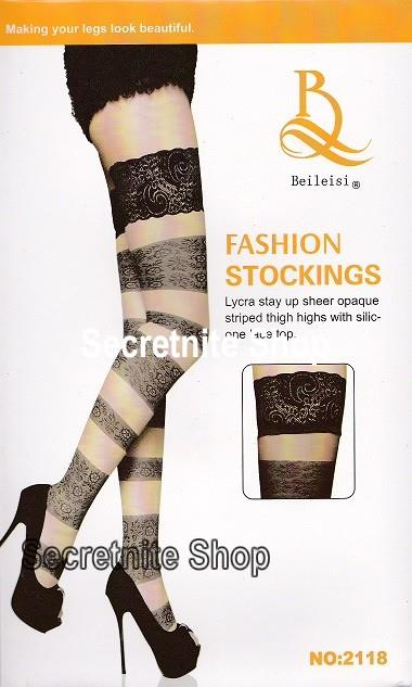Sun@ Sexy Black / Skin Fashion Stocking ST-102