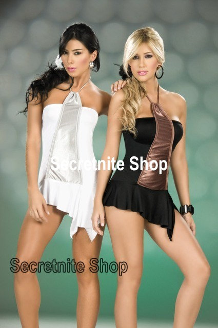 Sun@ Sexy Black/White Lingerie Babydoll with G-string AM-41