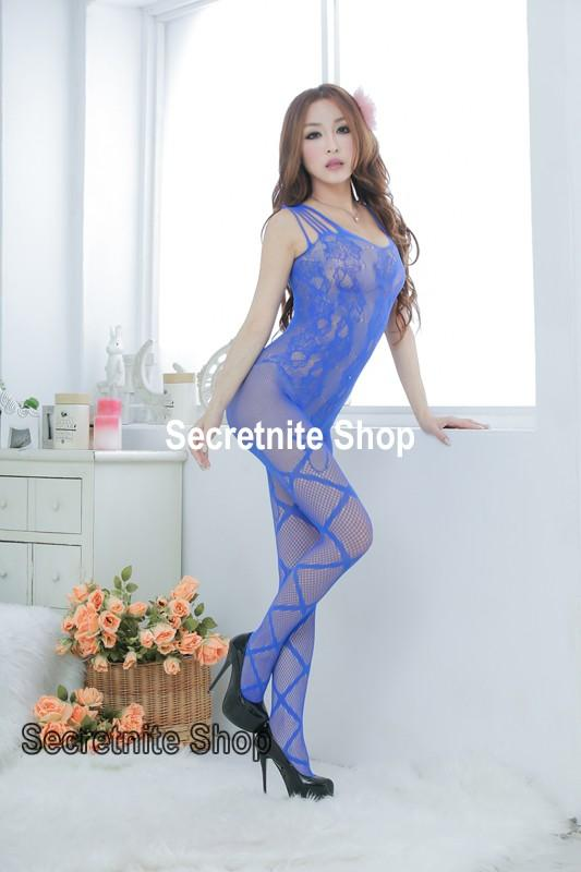 Sun @ Sexy Blue Bodystocking Lingerie BS-194