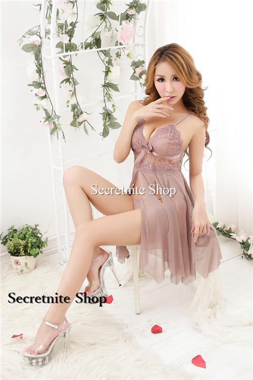Sun @ Sexy Brown Babydoll with G-string S-1416