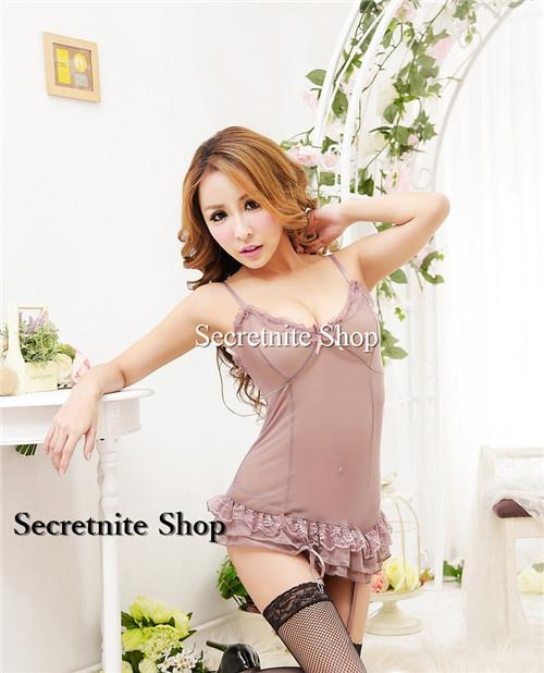 Sun @ Sexy Brown Corset with G-string S-1420