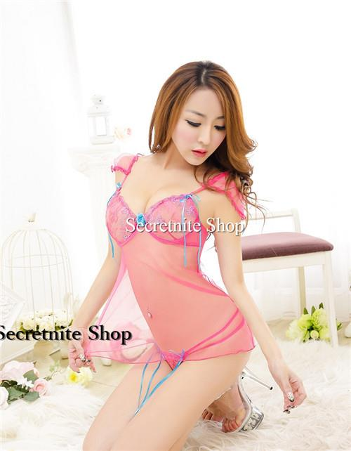 Sun @ Sexy Dark Pink Babydoll with G-string S-1450