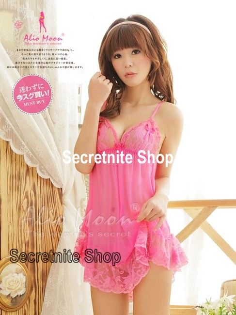 Sun@ Sexy Dark Pink Babydoll with G-string S-626