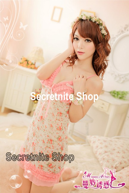 Sun @ Sexy Flower Lingerie Babydoll with G-string S-946