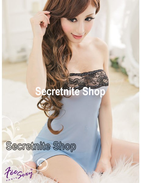 Sun@ Sexy Light Blue Babydoll with G-string S-568