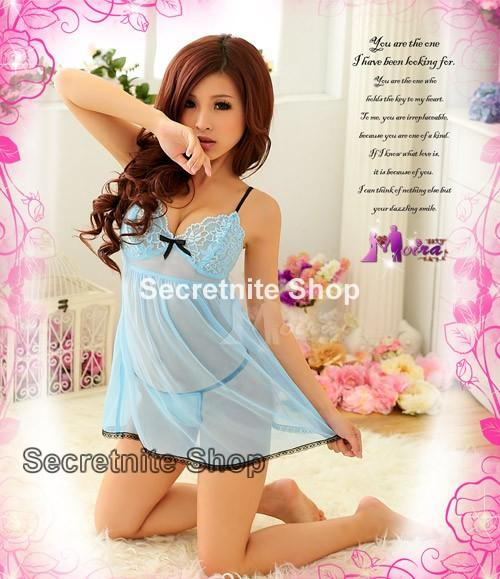 Sun@ Sexy Light Blue Babydoll with G-string S-590