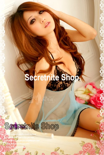 Sun@ Sexy Light Blue Babydoll with G-string S-721