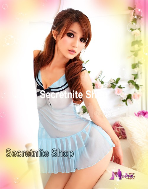 Sun@ Sexy Light Blue Babydoll with G-string S-722