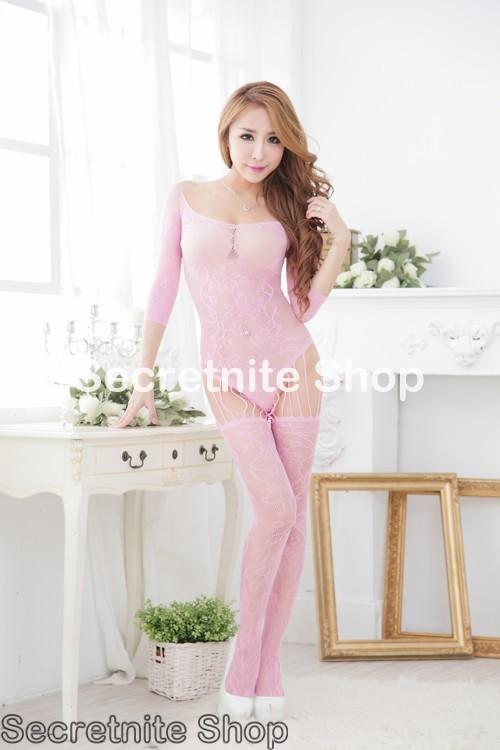 Sun @ Sexy Light Pink Show Me Love Bodystocking BS-271