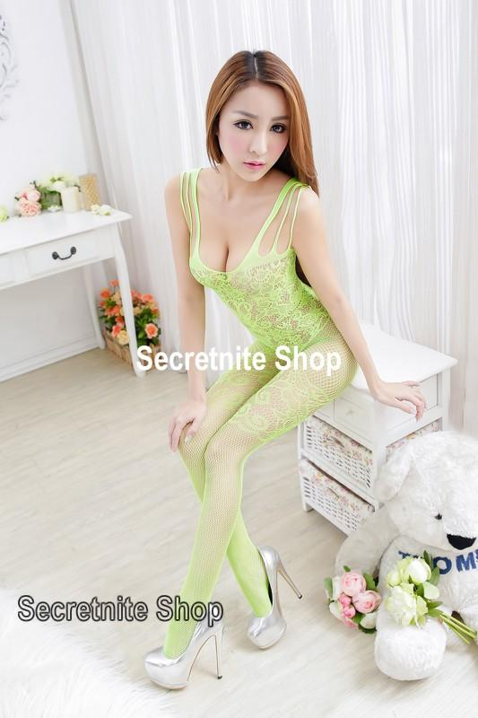 Sun @ Sexy Light Yellow Bodystocking Lingerie BS-199