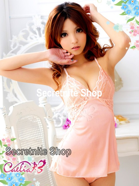 Sun@ Sexy Orange Babydoll with G-string S-624