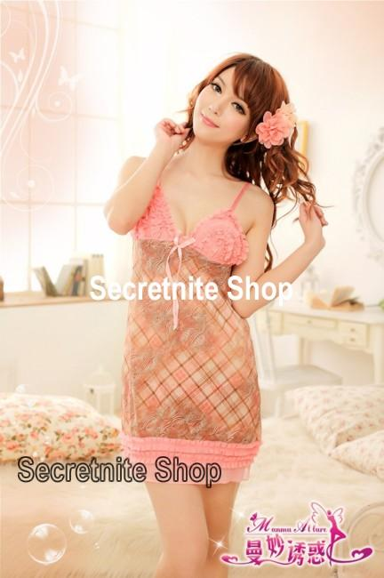Sun @ Sexy Pink Babydoll with G-string S-1154