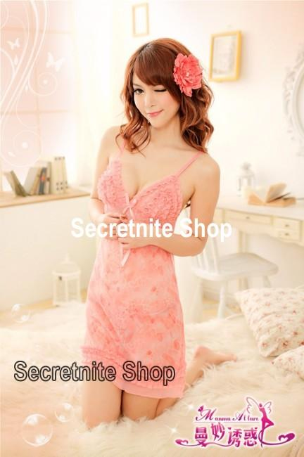 Sun @ Sexy Pink Babydoll with G-string S-1156