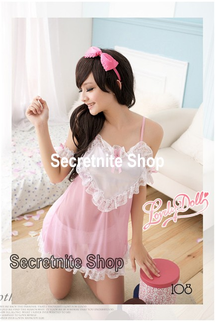 Sun@ Sexy Pink Babydoll with G-string s-785