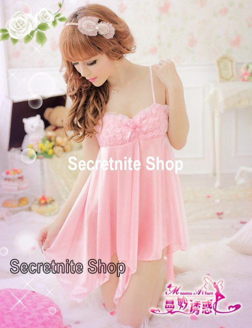 Sun@ Sexy Pink Babydoll with G-string s-786