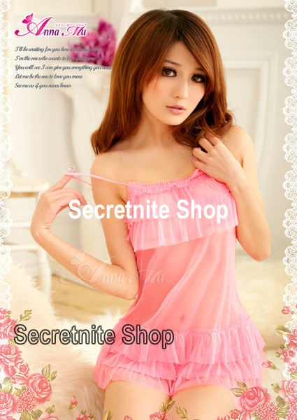 Sun @ Sexy Pink Babydoll with G-string S-863
