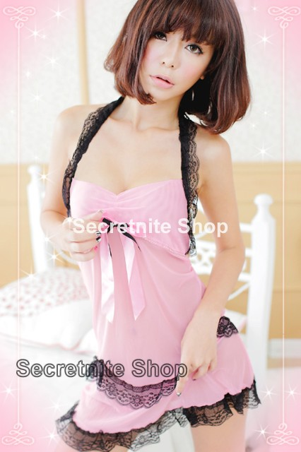 Sun @ Sexy Pink Babydoll Lingerie with G-string S-1033