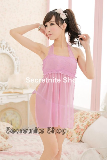 Sun @ Sexy Pink Babydoll Lingerie with G-string S-1044