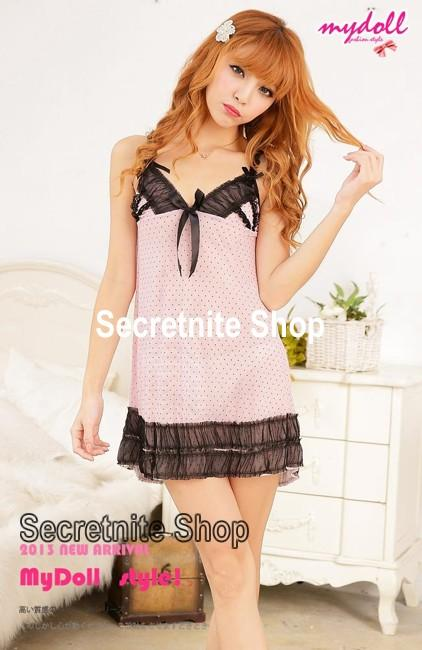 Sun @ Sexy Pink Babydoll Lingerie with G-string S-1280