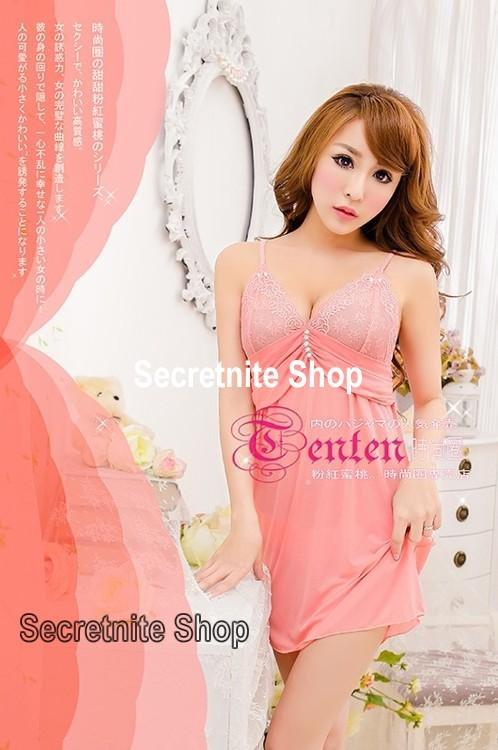 Sun @ Sexy Pink Babydoll Lingerie with G-string S-1311