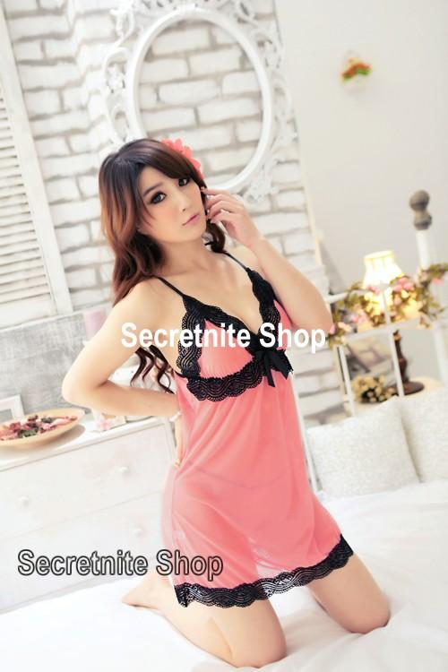 Sun @ Sexy Pink Babydoll Lingerie with G-string S-1332