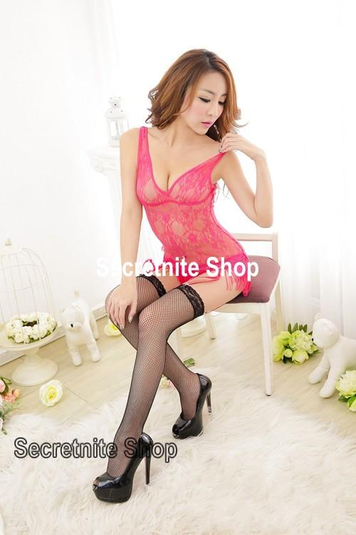 Sun @ Sexy Pink Babydoll Lingerie with G-string S-1355